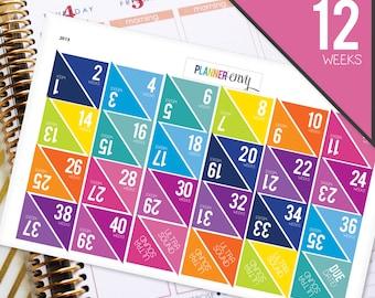 Planner Stickers Erin Condren Life Planner (ECLP) - 48 Pregnancy Tracker Ultrasound Stickers Due Date (#2013)
