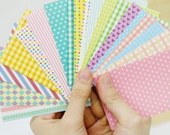 Film Skin Set - Sticker Set - Deco Stickers - Stickers - 20 sheets - Milky Pastel Color Pattern