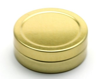 Free shipping - Empty GOLD Tin Cosmetic Pots Containers Aluminium 20ml