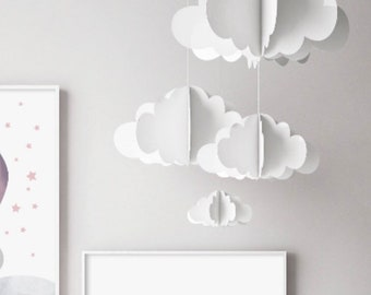 Nursery Mobile / Baby mobile / cloud mobile / mobile bebe /hanging cloud