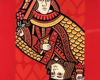 Queen, King of hearts