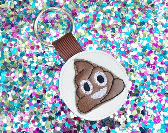 Keychain Oh Poop! Look who's driving keychain great gift for new drivers Poo emoji zipper pull backpack clip brown poopy teen Permit License