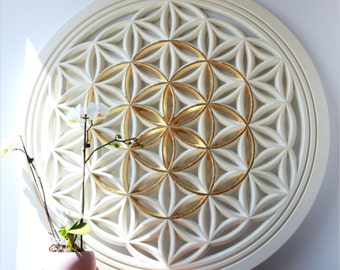 Flower of Life Gold Seed. Sacred Geometry Art - A high energy resonator and a spiritual gift for your awakened loved one