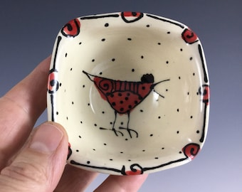 Chicken Small Square Bowl