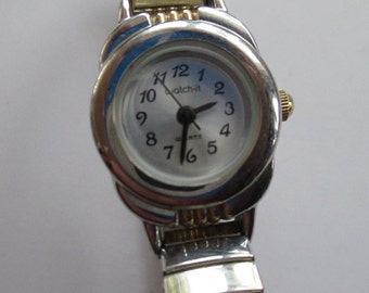 """Vintage jewelry Ladies watch, """" Watch-iT""""   gold tone used good condition"""