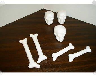 Skeleton /Styrfoam /Skull & Bone Parts*/Holiday/ Craft Supplies*
