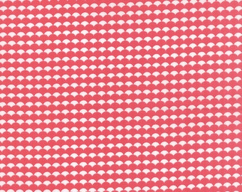 """25"""" piece/remnant - Gooseberry - Scallops Ruffled in Berry Pink: sku 5015-11 cotton quilting fabric by Lella Boutique for Moda Fabrics"""