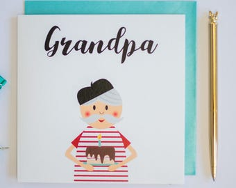 Grandpa card etsy grandpa birthday greeting card bookmarktalkfo Gallery