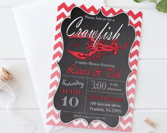 Crawfish Boil Invitation / Digital Printable engagement party Invite for couples shower / DIY Party