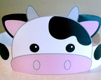 Cow Paper Crown - Printable