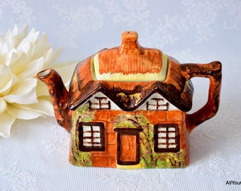 Cottageware by Price & Kensington, Vintage Teapot, Highly Collectible Pottery, Cute Little Village in Pottery, Vintage Tableware, c 1930 s