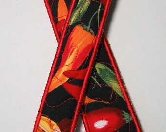 Chilli pepper bookmark - red trim