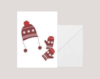 Printable Christmas Card   Greeting Card   Holiday Card     Xmas Card   A2 Card   Minimilist Christmas Card   Seasons Greetings Card