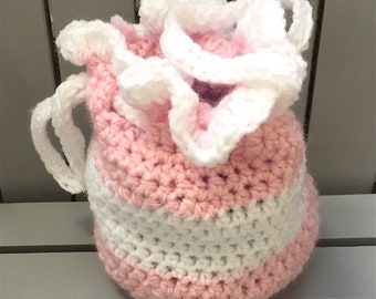 Crochet Purse - DrawString Purse - Pretty Purses