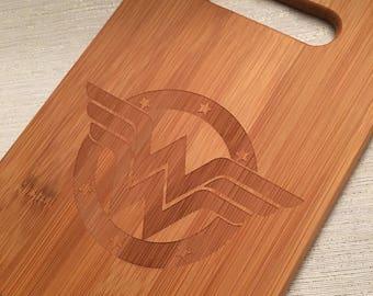 Wonder Woman Bamboo Cutting Board-Small