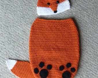 Finley the Fox Cocoon and Hat Set crochet pattern