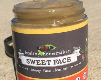Honey Facial Cleanser  - Organic Raw Honey Face Mask - Natural Face Wash  - Healing and Beautifying Skin Treatment Mask - 4 oz Skin Care