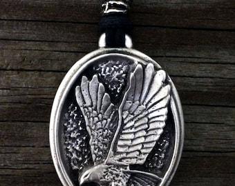 Eagle Pendant | Bird Jewelry | Eagle Jewelry | Wildlife Jewelry | Handcrafted Jewelry | Fine Pewter by Treasure Cast