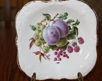 Royal Stuart- Spencer Stevenson Fine Bone China Dish with Fruit, Made in England