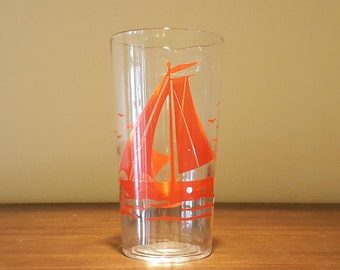 Sailboat glass tumbler
