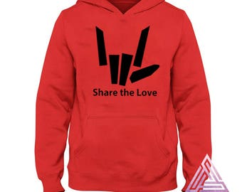 Share the Love - Design RED hoodie kids Stephen Sharer gift - Adults & Youth sizes