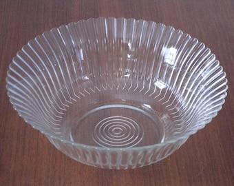 Mac-Beth Evans Crystal Petalware Serving Bowl
