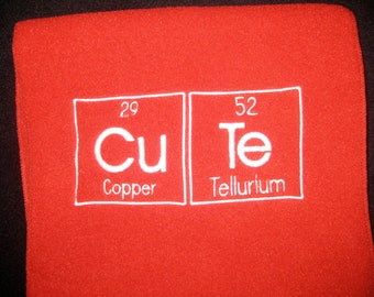 Chemistry CuTe Scarf Science Geek Periodic Table - Ready to Ship