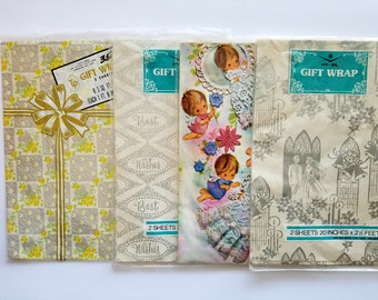 Vintage Collection of Spring Gift Wrap Shower / Bridal / Baby