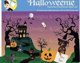 Halloween Dachshund Clipart Wurstfest Oktoberfest Dachtober