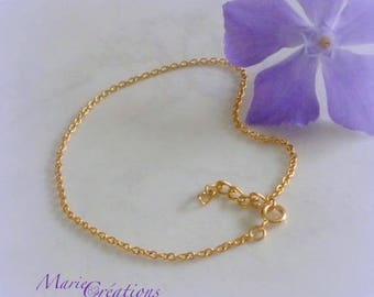 Chain Anklet / 1.80 mm 18K gold plated chain