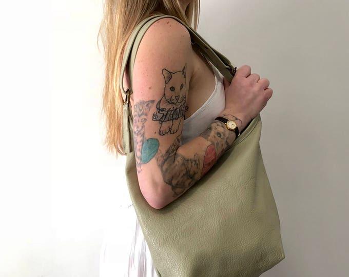 HOPI - adjustable leather hobo handbag