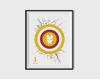 Ironman 2.1 Print - Minimalist, DC Comics, Comic Print, Superhero Wall Art