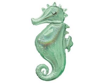 "38"" My Adorable Seahorse  Balloon  / Girls Party Theme/ Mermaid seahorse balloon /little mermaid /Mermaid Party/ seahorse balloon"