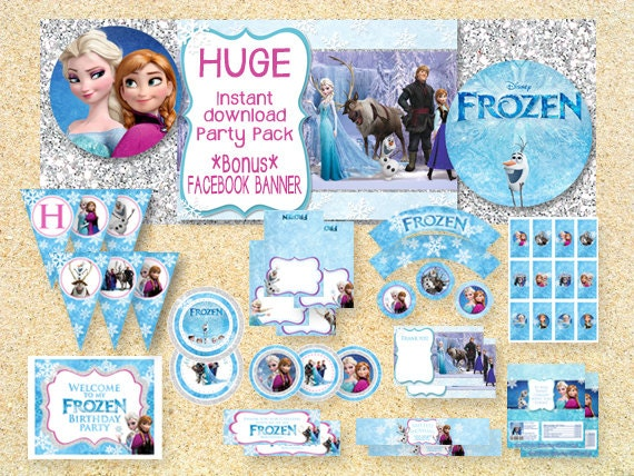 On Salelimited Time Frozen Printable Party Pack Instant
