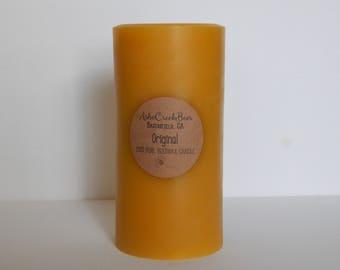 Queen Bee Beeswax Pillar Candle