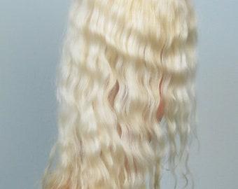 Natural angora lemon wig