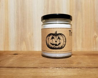 8 Ounce Halloween Candle - Free Shipping - Trick or Treat Candle - Pumpkin Candle - Fall Candle - Gift Candle
