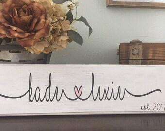 Custom I Love You Sign| Custom Couples Sign| Custom I Heart You Sign| Wedding Gift | Valentine's Day Gift| I Love You Gift| Anniversary Gift
