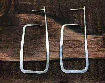Geometric Sterling Stud Earrings