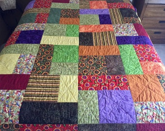 Colorful Floral Quilt