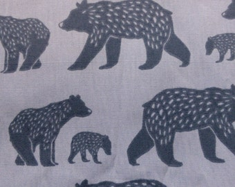 1/2 Yard Organic cotton, Monaluna, Simple Life, Bear Family