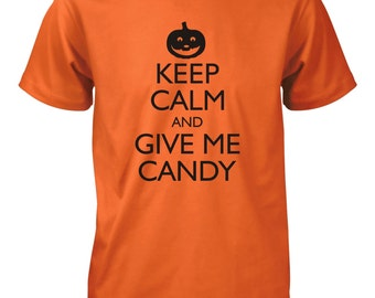 Keep Calm and Give Me Candy Halloween Funny T-Shirt for Men