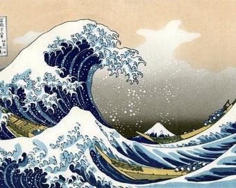 "Laminated placemat Hokusai ""Wave"""