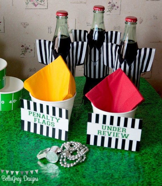 Football Down Set Hut Sports Theme Birthday Party Flat Food