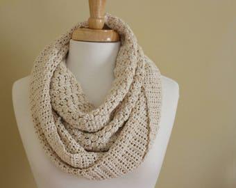 Crochet PATTERN - Crochet infinity scarf pattern - Easy crochet circle scarf pattern - Crochet cowl pattern - Crochet snood pattern