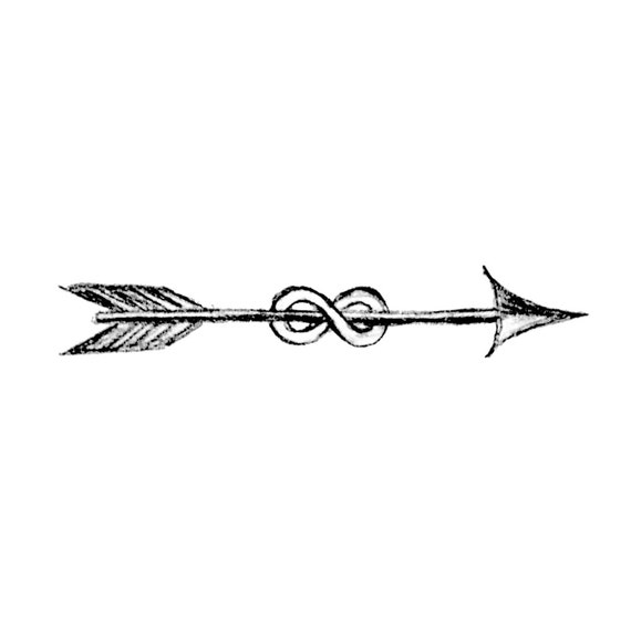 Line Art Arrow : Temporary tattoos infinity arrow small