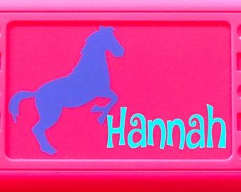 Personalized Pencil Box, Horse, Horse Pencil Box, Horse Pencil Case, Back to School, School Supplies, Pencil Case, Pencil Box, School Box