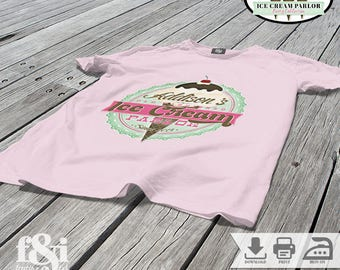 Ice Cream Party Shirt | Ice Cream Birthday Shirt | Ice Cream Party Iron on Transfer | Ice Cream Birthday Iron on Transfer | Printable