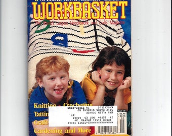 The WorkBasket Needlework, Crafts Magazine, Anniversary Issue, August September 1992, Knitting, Crochet, Quilling Book, Vintage Home Crafts