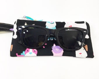 Dog Lovers  Zippered Pouch~ Little Lia Sunglasses Pouch ~ Free Shipping in US